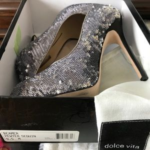 Sequin dolce vita high heels